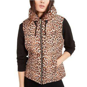 NWT Calvin Klein Leopard Print Puffer Vest